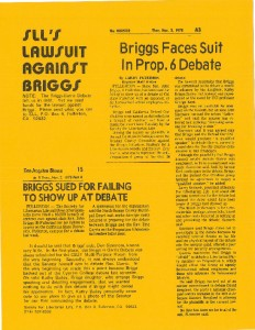 thumbnail-of-Flyer -- Newspaper clippings of lawsuit against Sen. Briggs